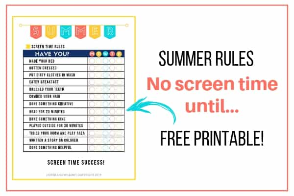 picture relating to Screen Time Rules Printable titled Summer time Guidelines Listing Template - No Show Year Right up until Printable