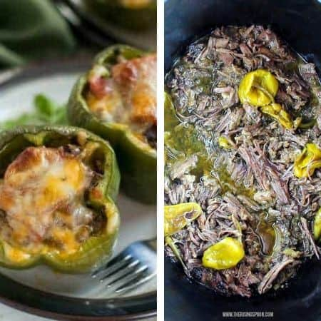 gluten free homemade freezer meal recipes with stuffed peppers and pot roast