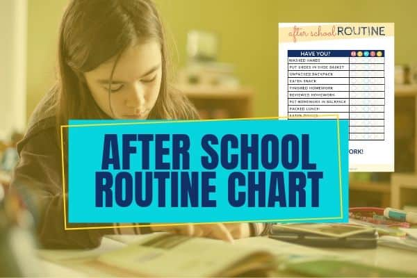 after school routine chart