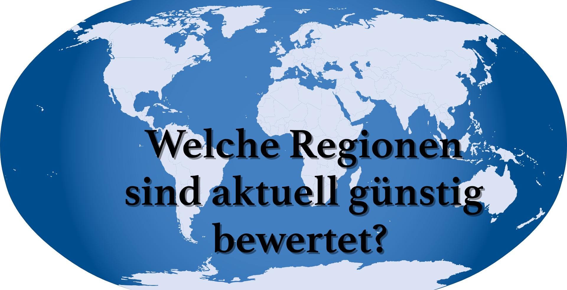 Welche Regionen & Branchen sind aktuell günstig bewertet?
