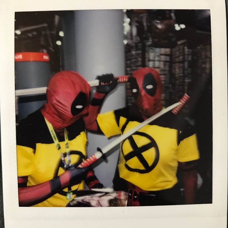 deadpool cosplay at comic con 2018 nyc