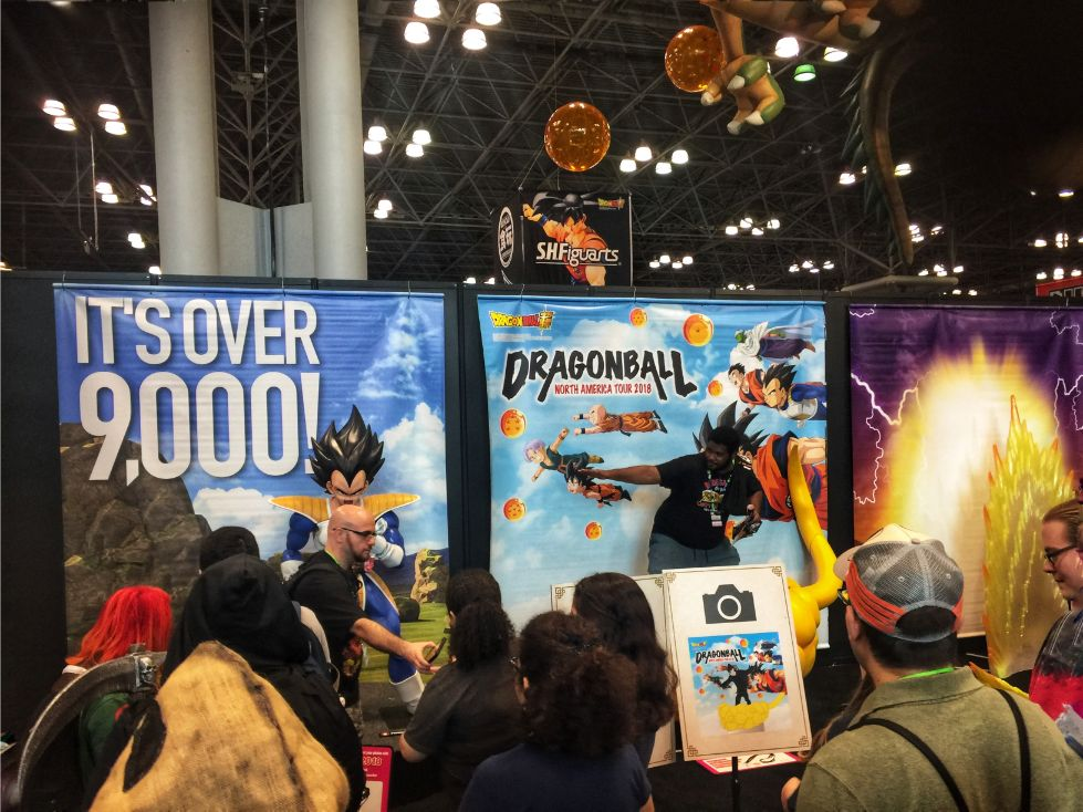 dragon ball z house set at comic con 2018 in nyc