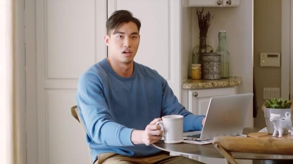 bag balm commercials - asian male model