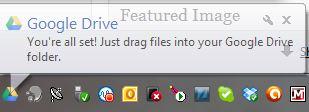 Google Drive Tray Icon