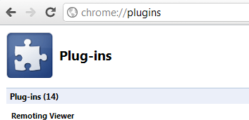 chrome //plugins