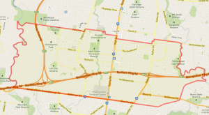Google Maps KML layer in action