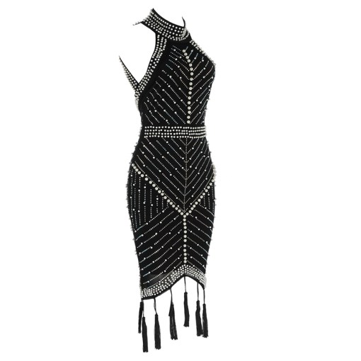 JASSJAZZ BEADED FRINGE DRESS