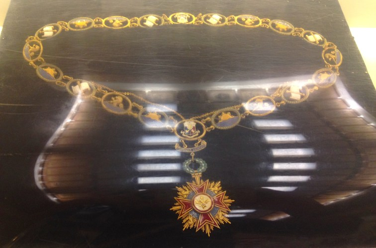 The Grand Collar of Sikatuna, an award given by the Philippine government to Chiang Kai Shek