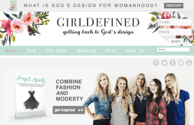 Screenshot from Girl Defined site
