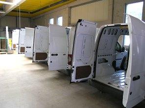 Vorbereitungen für den Einbau der 2-Kammer Mobilconvectomaten.