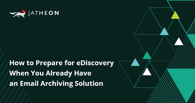 ediscovery email archiving