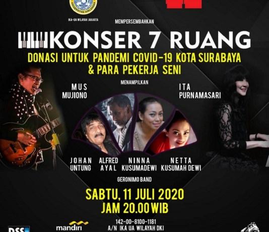 Konser 7 Ruang Live on YouTube Malam ini, Cara IKA Airlangga Wilayah Jakarta untuk Galang Donasi