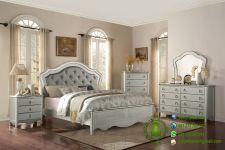 set tempat tidur minimalis warna silver model terbaru harga murah berkualitas
