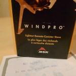 MSR Windpro i förpackning