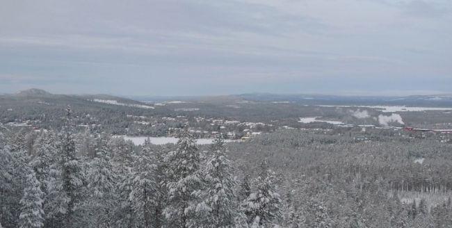 Vy över Jokkmokk från Storknabben