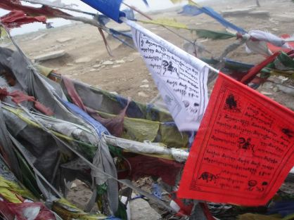 Old an our new prayer flags