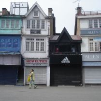 One person on the street in Shimla