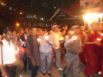 Demonstration in Shimla, candlelight's