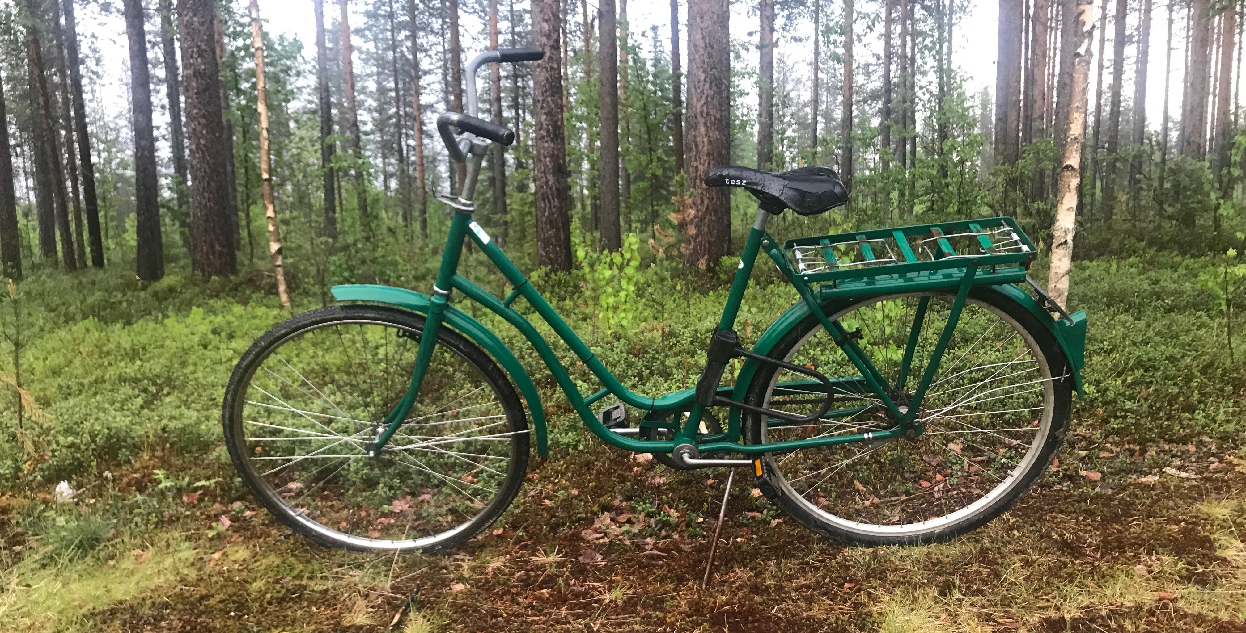 Cykel som står uppställd