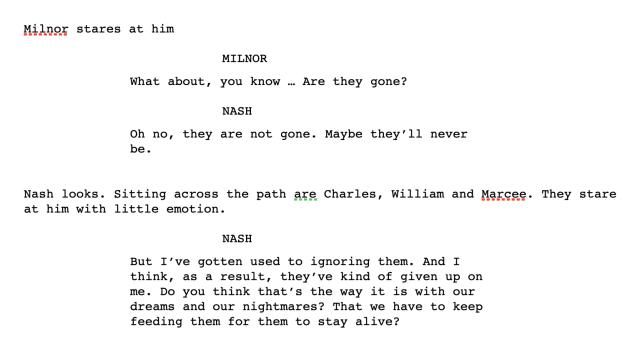 Manustext ur filmen A Buatiful Mind
