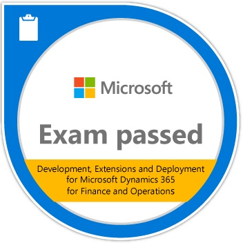 Microsoft Certification Exam 894: Development, Extensions and Deployment for Microsoft Dynamics 365 for Finance and Operations