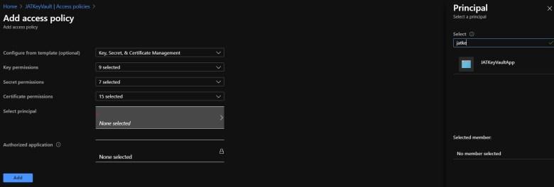 Añadir política de acceso al key vault