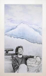 Autostop 6: Paraíso – Bolígrafo sobre papel – 50 x 32 cm. – 2012