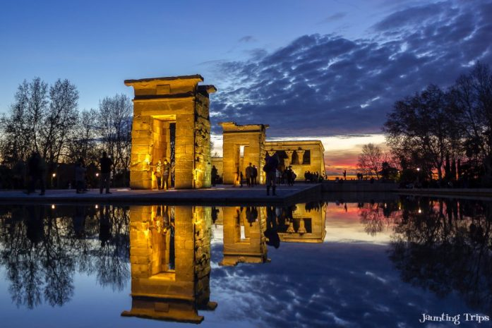 temple-debod-sunset