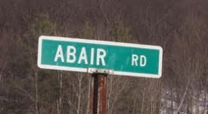 Abair Road Sign Whitehall New York