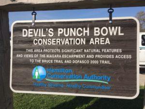Devil's Punch Bowl Sign