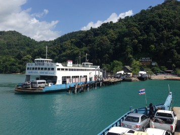 Ferry landing on Koh Chang
