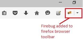Firebug toolbar icon