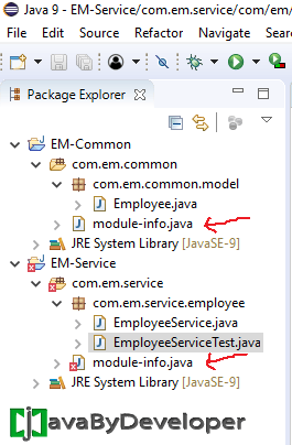 Eclipse Module Project Java 9 - Step10