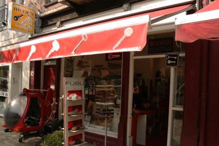 Gevel Meester Schoenmaker Hillie's in de Javastraat in het Javakwartier