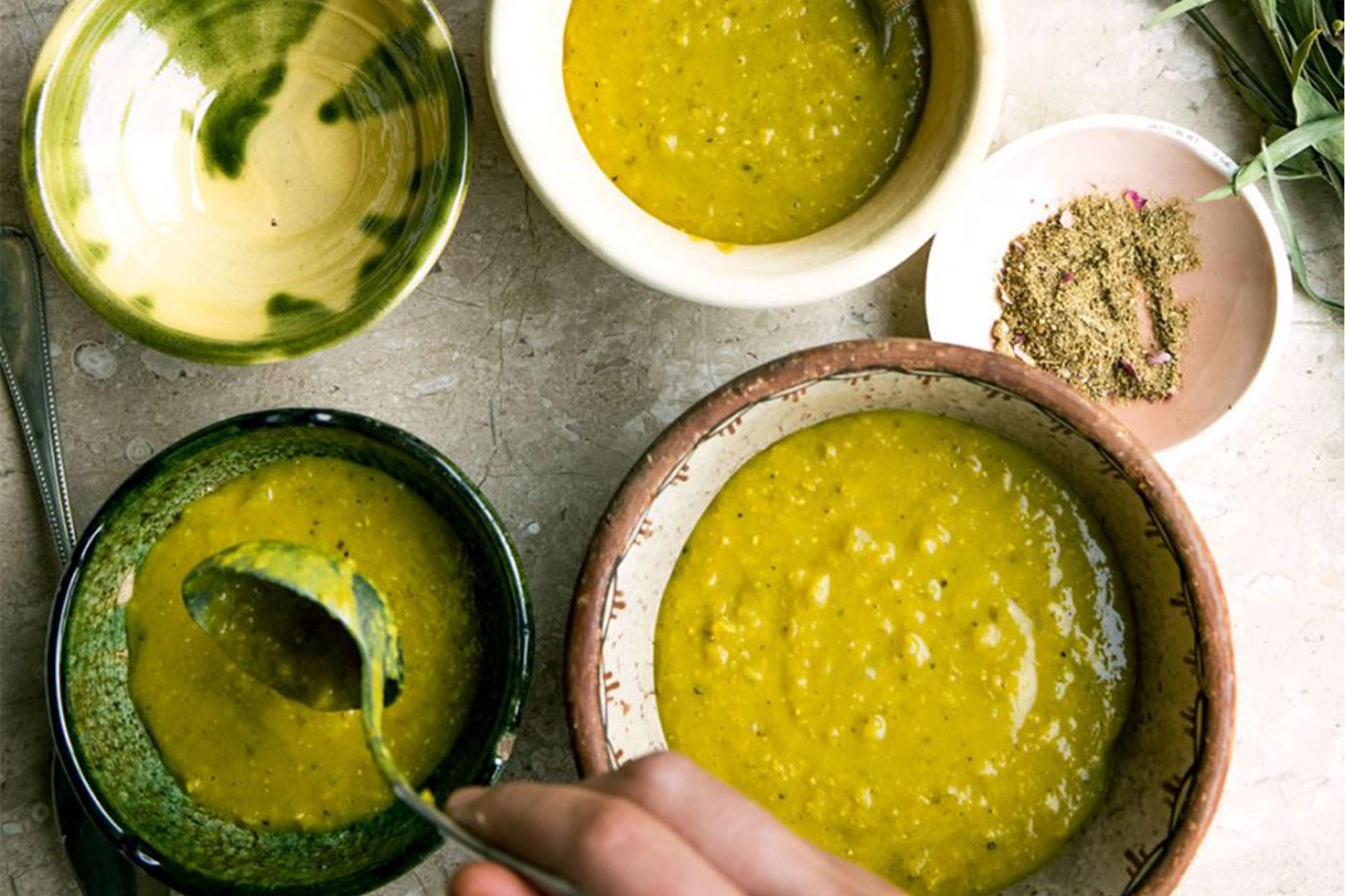 Linzen-kurkumasoep naar recept van Nadia en Merijn