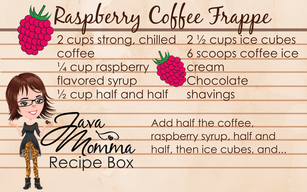 Raspberry Coffee Frappe