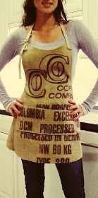 recycled burlap coffee sack craft apron