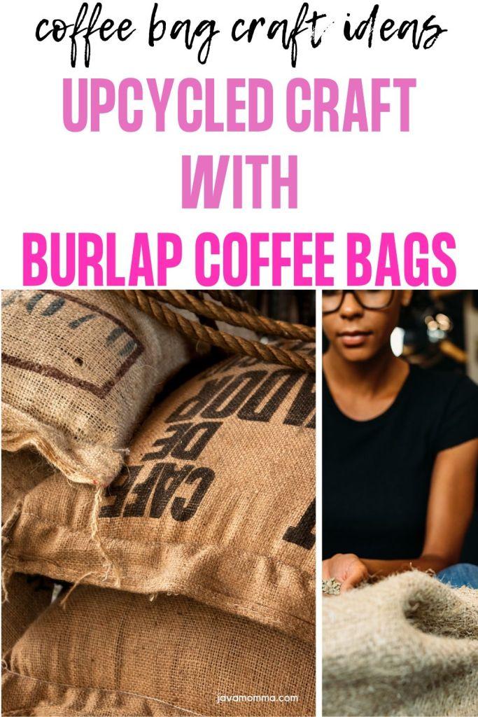 burlap and hessian coffee sack craft ideas, coffee bag craft ideas