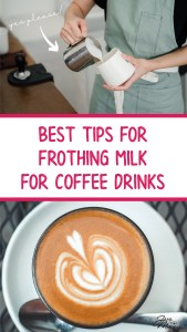 frothing milk for coffee, texturing milk