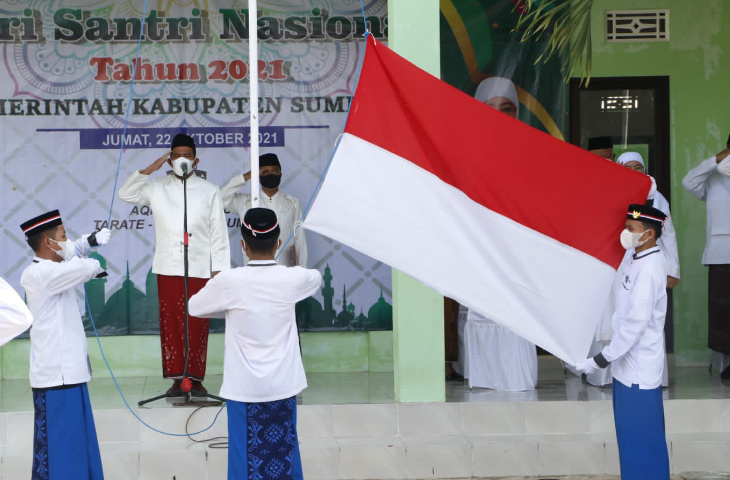 Bupati Sumenep Achmad Fauzi Pimpin Upacara Peringati Hari Santri Nasional (HSN)