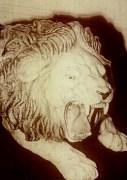 Le lion de céramique qui se serait animé