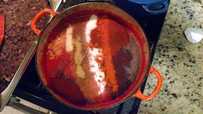 Making some chili