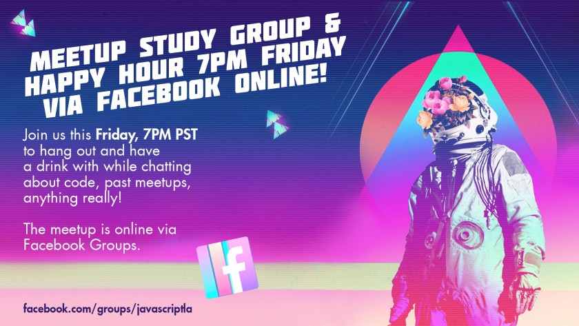 Study group this Friday! Come talk and lounge with us online via FB!