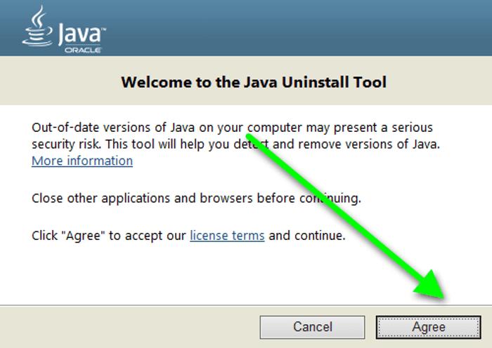 Жою Java Utility Java Uninstalltool