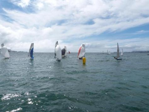 The beautiful sailing water of the Bay of Islands were the venue of the 2013 Javelin Skiff South Pacifics