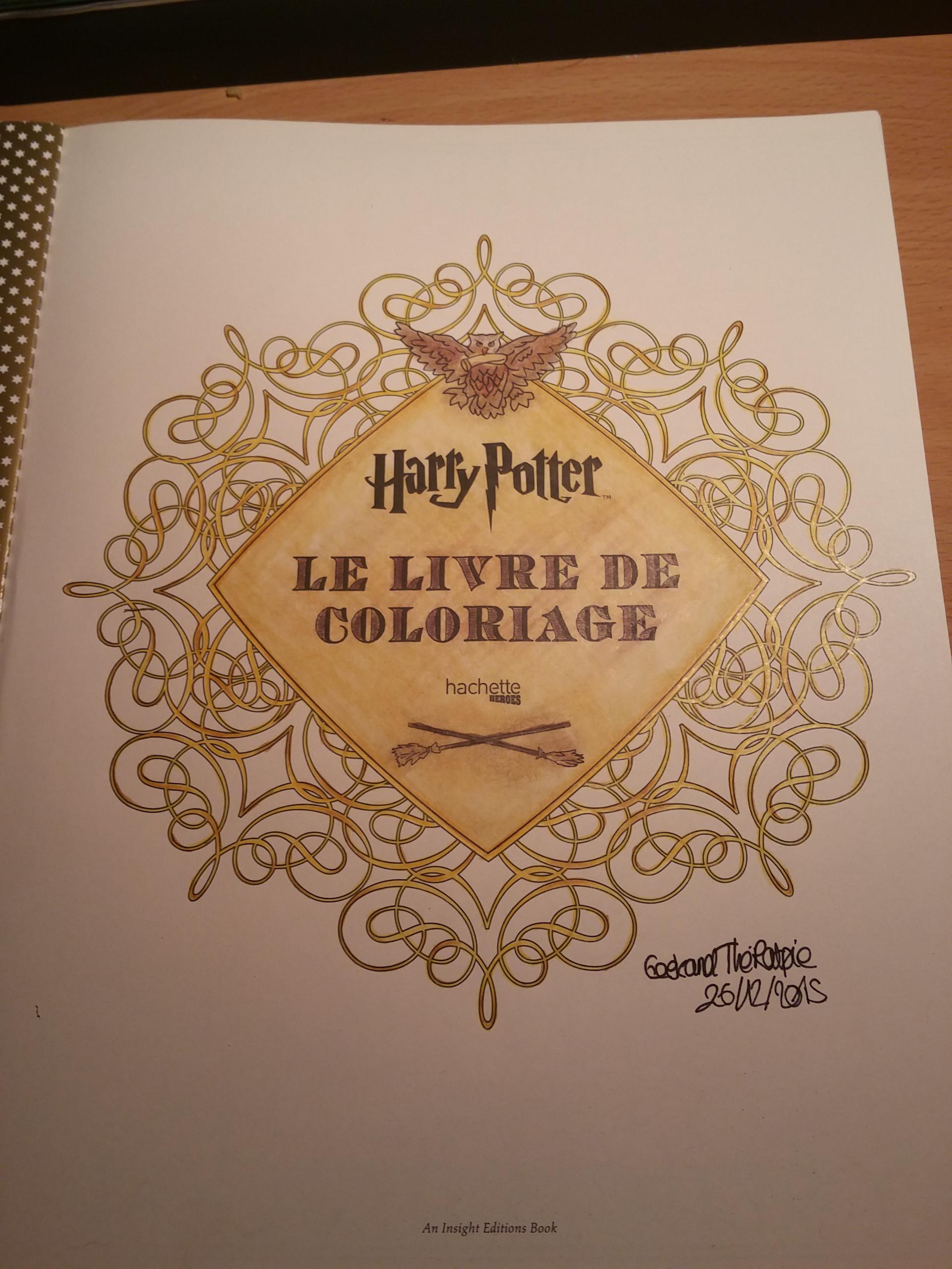 Harry Potter Le Livre De Coloriage 1 Javotte Amp Anna