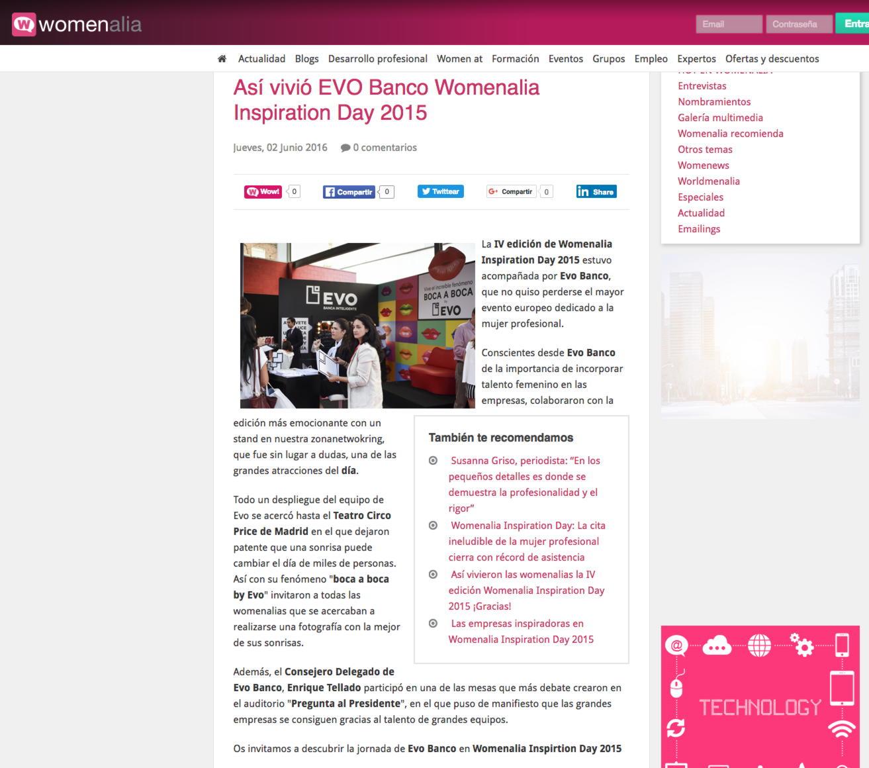 """Así vivió EVO Banco Womenalia Inspiration Day 2015"""