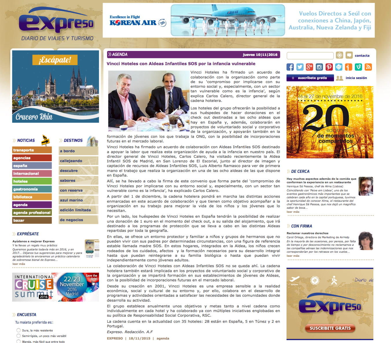 """""""Vincci Hoteles con Aldeas Infantiles SOS por la infancia vulnerable"""""""