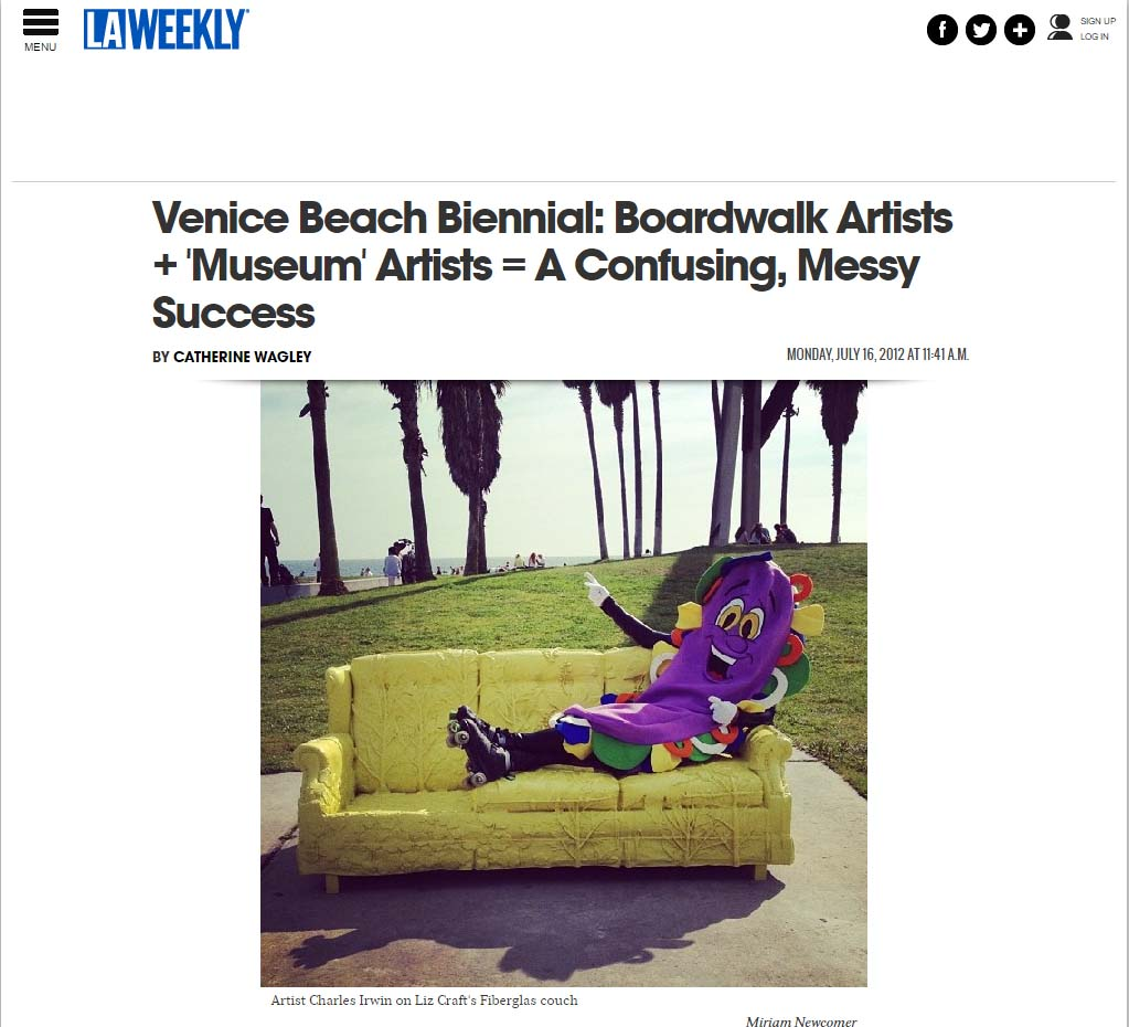 Venice Beach Biennial: Boardwalk Artists + 'Museum' Artists = A Confusing, Messy Success