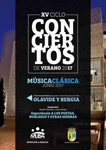 Conciertos de Verano – Badajoz  –   Javier Bergia & Begoña Olavide